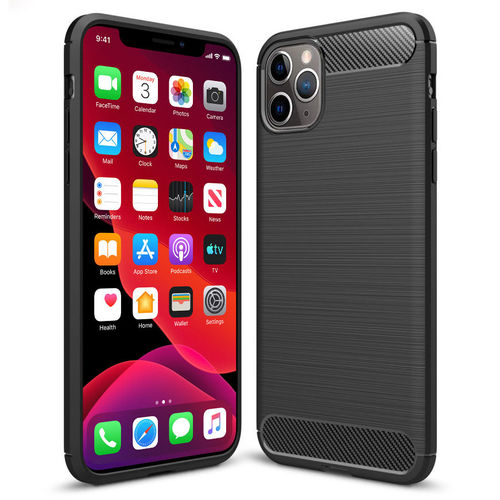 Flexi Slim Carbon Fibre Case for Apple iPhone 11 Pro - Brushed Black